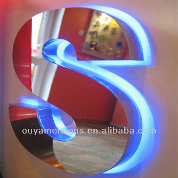 Custom Stainless Steel Led Backlit Sign  Outdoor Illumination Www