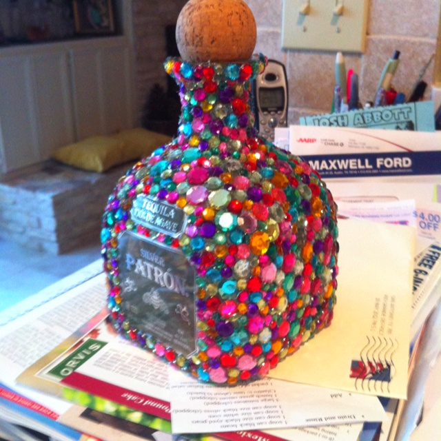 Bedazzled Patron bottle