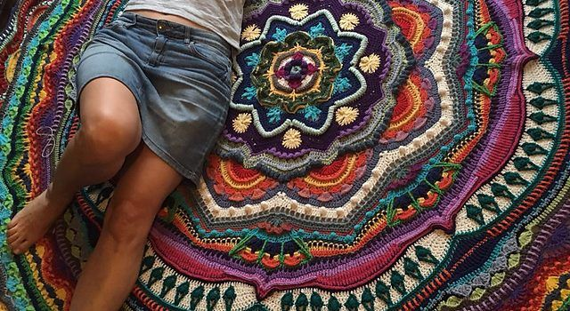 You Will Be Obsessed With This Incredibly Gorgeous Crochet Mandala Blanket Pattern - Knit And Crochet Daily