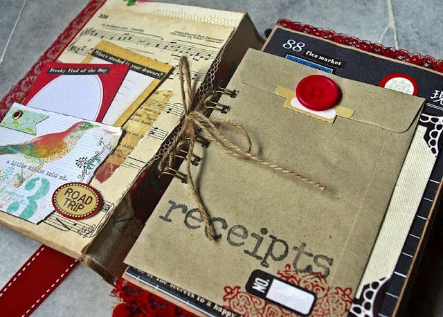 Altered book. This would be a cute way to make a scrapbook.