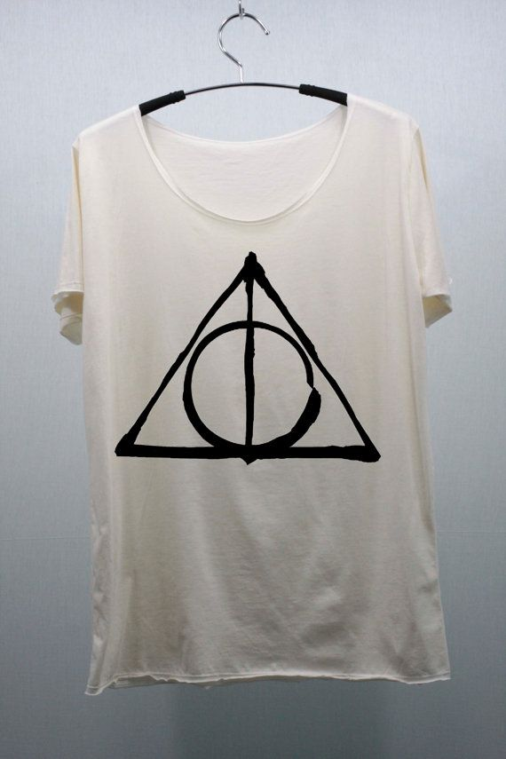 Deathly Hallows Harry Potter T Shirts Cream Unisex by CafeTshirt, $15.99