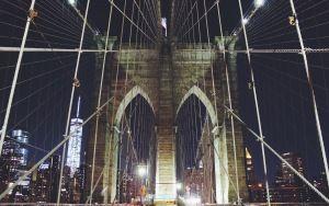 Fondo de pantalla de vista previa de Nueva York, Manhattan, Brooklyn Bridge