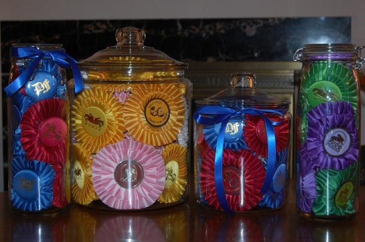 Ribbon Jars I LOVE this idea!!!!