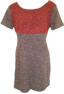 """Attention all Trekkies or lovers of colour blocking.    Boldly go in our new season's Raspberry and Charcoal Wool/Viscose nod to starships everywhere.  Smart and just a little cheeky, the """"Uhura"""" feels delightfully soft, stretchy and snuggly.    This is a special version of our """"Julie"""" dress, sporting a sassy little cap sleeve.    Affirmative Captain.  Style tip: Team with our Spock earrings!"""
