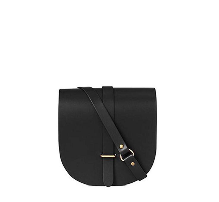 Black Leather Saddle Bag | The Cambridge Satchel Company