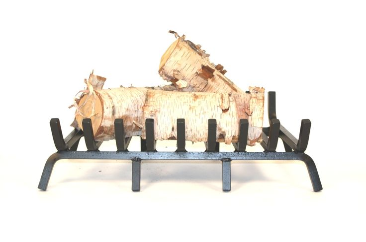 """The 25"""" RUGGED IRON Fireplace grate is designed for those who burn more frequently. Made of 3/4"""" solid Square bar. Manufactured in Canada. $104 27 at front 25"""" at back"""