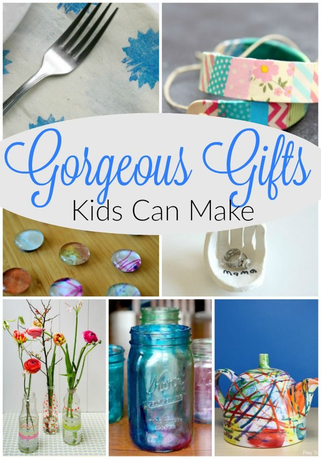 these homemade gift ideas for kids to create are fabulous simple
