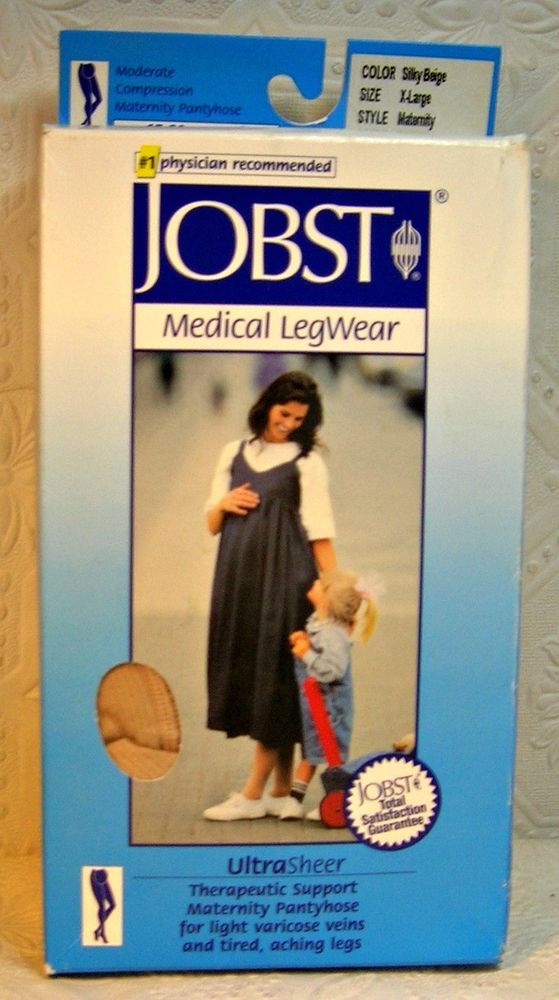 101d99c1f Details about Jobst Ultrasheer Supportwear 8-15 Compression Maternity  Pantyhose