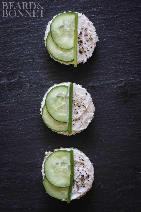 Shower Worthy Tea Sandwiches (Gluten Free and Vegan) #projectlunchbox
