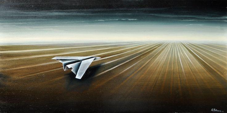 """Katarzyna Rutkowska """"Samolot II""""/ kontakt w sprawie dzieła biuro@dnagallery.pl"""