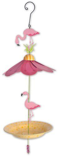 Floral-Bird-Feeder-Flamingo-Backyard-Whimsical-Garden
