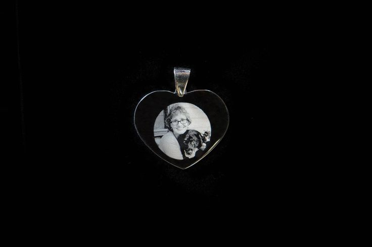 Does your pet mean the world to you?  Have a photo engraved onto a piece to keep with you at all times. #dog #doggies #petmemorial #photoengraving