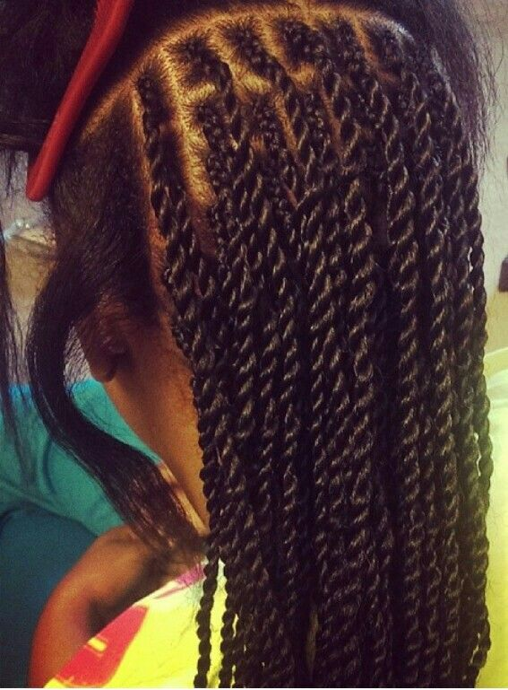 Protective Styles • Braids at the root for flawless senegalese twists