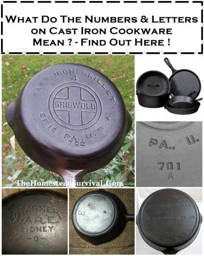 The Homestead Survival | Numbers and Letters on Cast Iron and What They Mean | http://thehomesteadsurvival.com