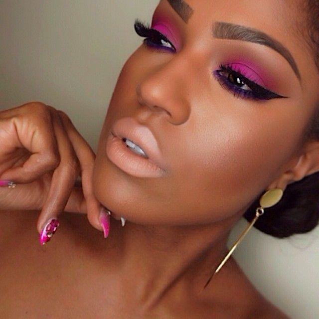 264 Best Makeup On Dark Skin Images On Pinterest  Black Beauty, Black -6707