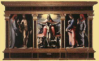 Trittico della Trinità.  1513. Pinacoteca Nazionale di Siena