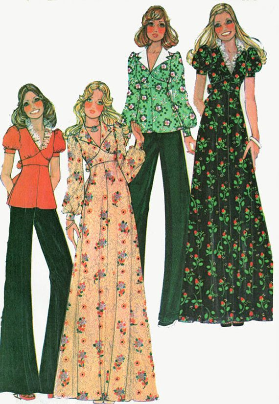 I actually made this dress and top about four times in high school loved it! Vintage 70s Sewing Pattern McCalls 40140 Retro by sandritocat, $12.00