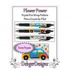 Bead Pattern Peyote(Pen Wrap/Cover)-Flower Power