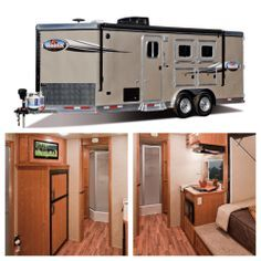 Yes, this is a bumper pull horse trailer with full living quarters! Check it out more at www.lakotaofohio.com