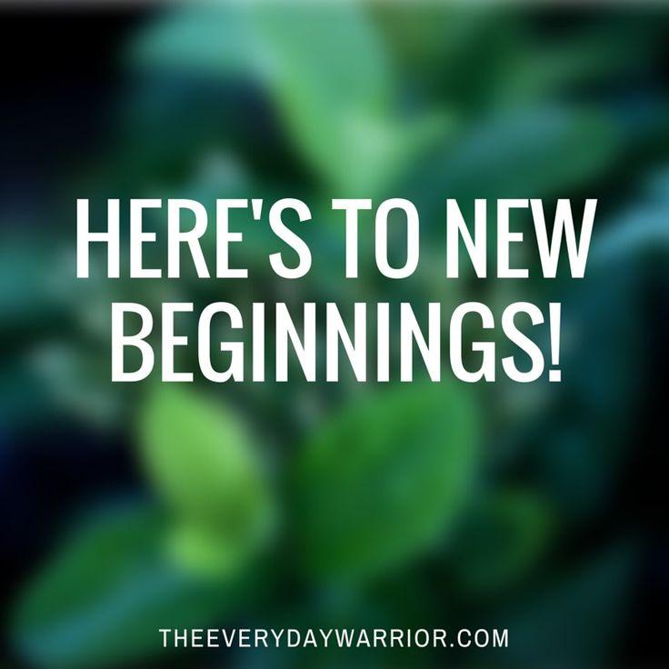 New Beginnings!