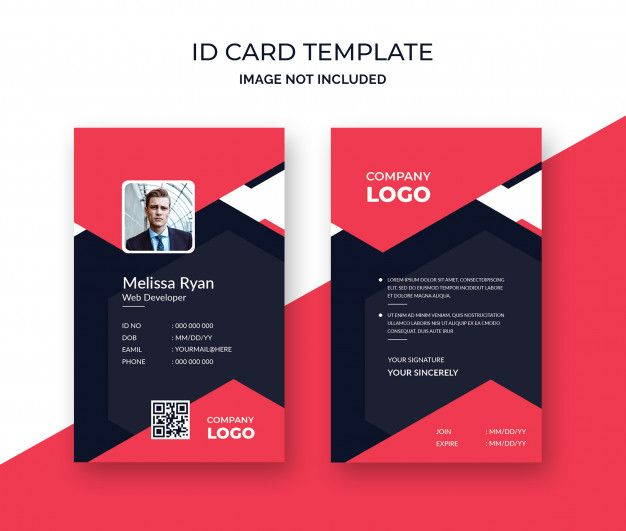 Red Id Design Template