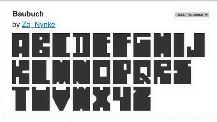 I made a font! Baubuch font by Nynke Vissia.