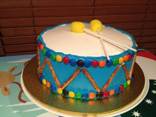 Drum Cake - First Birthday - Easy Toddler Food