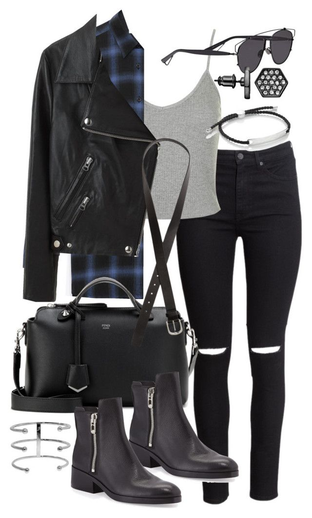 """Untitled #18842"" by florencia95 ❤ liked on Polyvore featuring H&M, Topshop, Yves Saint Laurent, Fendi, Acne Studios, Christian Dior, Simply Vera, 3.1 Phillip Lim and Monica Vinader"