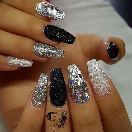 Diamond Nails – 16 Best Diamond Nails - Best 25+ Diamond Nails Ideas On Pinterest Black Nails, Glitter