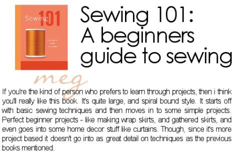 recommended reading: beginner sewing