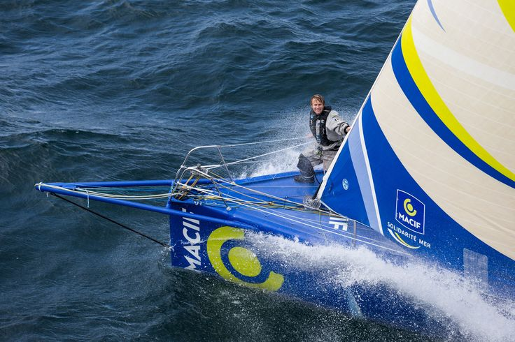 En route pour la #TJV13 ! #IMOCA @francoisgabart @Macif60 #Sail #LeHavre ©JMLiot   www.scanvoile.com