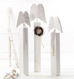 64 best holz images on pinterest christmas diy christmas deco and christmas ornaments - Holzpfosten dekorativ verziert ...