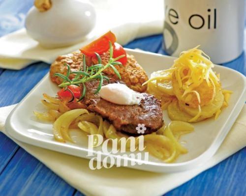 Bryzol z pieczarkami, dania główne, dania z wołowiny