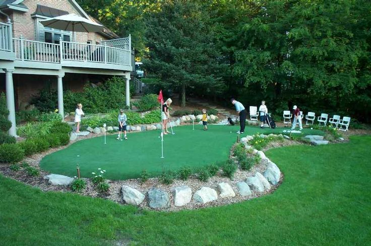 35 best Mini golf and other outdoor game ideas images on ... on Small Backyard Putting Green id=42163