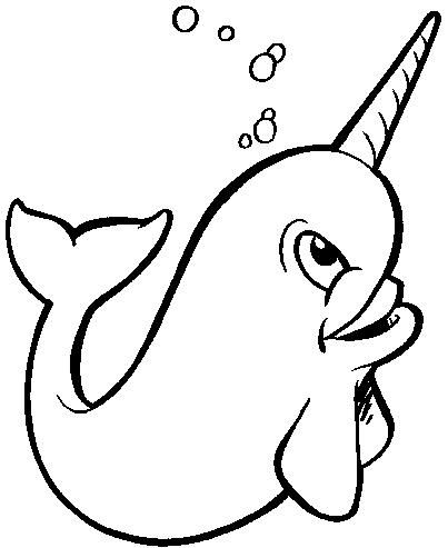 Narwhal clipart 4 403x493 i fucking love coloring for Narwhal coloring page