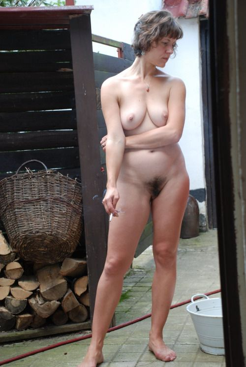 Mature women standing naked