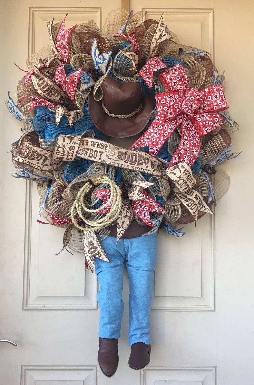 Top 25 Best Western Wreaths Ideas On Pinterest Cowgirl
