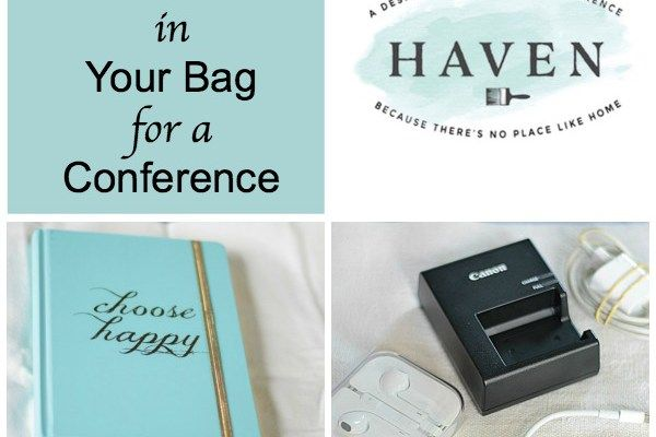 10 Items to Pack in Your Bag for a Conference
