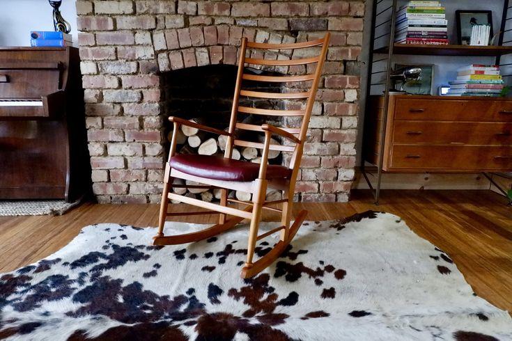 Retro Vintage Scandinavian Rocking Chair