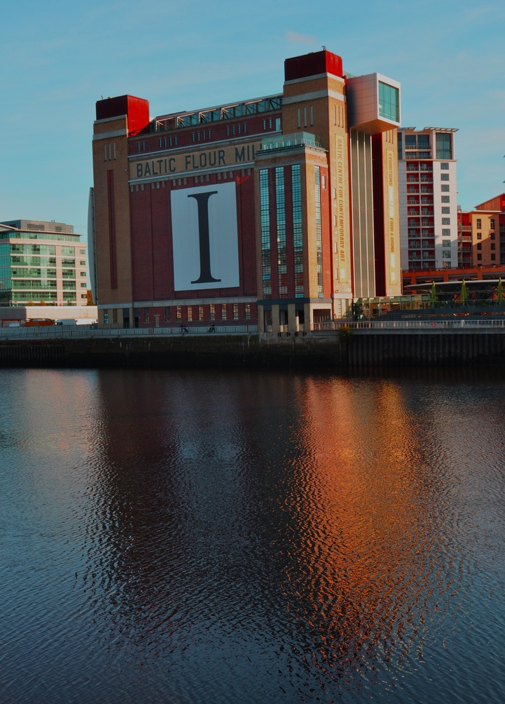 The Baltic, once  a flour mill, now a gallery and centre for contemporary arts on the River Tyne Gateshead, north east England.