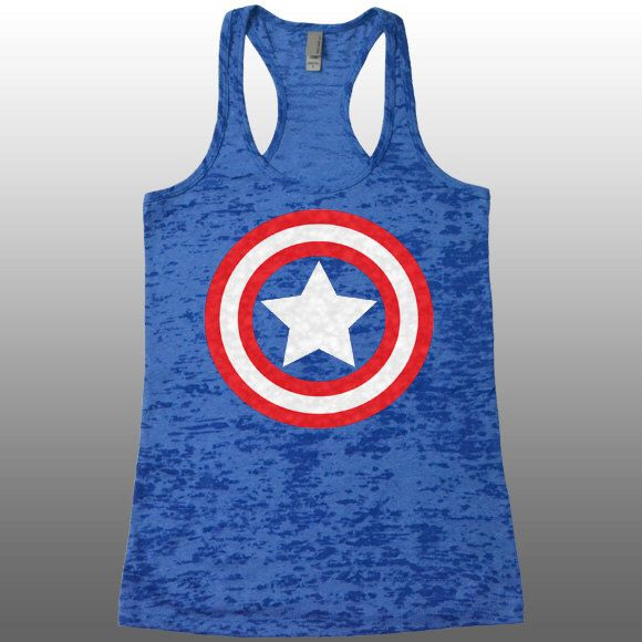 Captain America Tank Top. Burnout Tank. Funny Womens Workout Tanks. Ladies Avengers Running Captain America Shirt. Gym Tank Tops. Work Out. by CuteBuffy on Etsy https://www.etsy.com/listing/229827728/captain-america-tank-top-burnout-tank