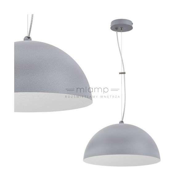 LAMPA wisząca SIG 30120 klasyczna OPRAWA nad stół ZWIS kopuła szara nakrapiana