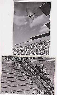 OLYMPIC SWIMMING & DIVING ATHLETE VINTAGE 1936 BERLIN GERMANY SPORTS PHOTO CARDS