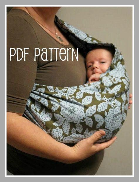 30 MINUTE Baby Sling PDF Pattern Great beginner door BerryBirdy