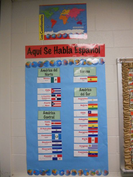 Spanish speaking countries....so the quit asking if Brazil is a spanish speaking country!!