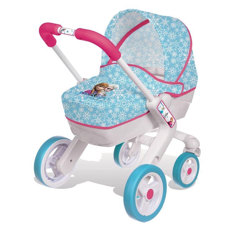 Met deze wandelwagen van Frozen kan je Anna of Elsa pop overal mee naartoe.