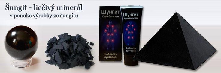 Liečivý minerál Šungit http://www.navratkuzdraviu.sk/c/vyrobky-zo-sungitu