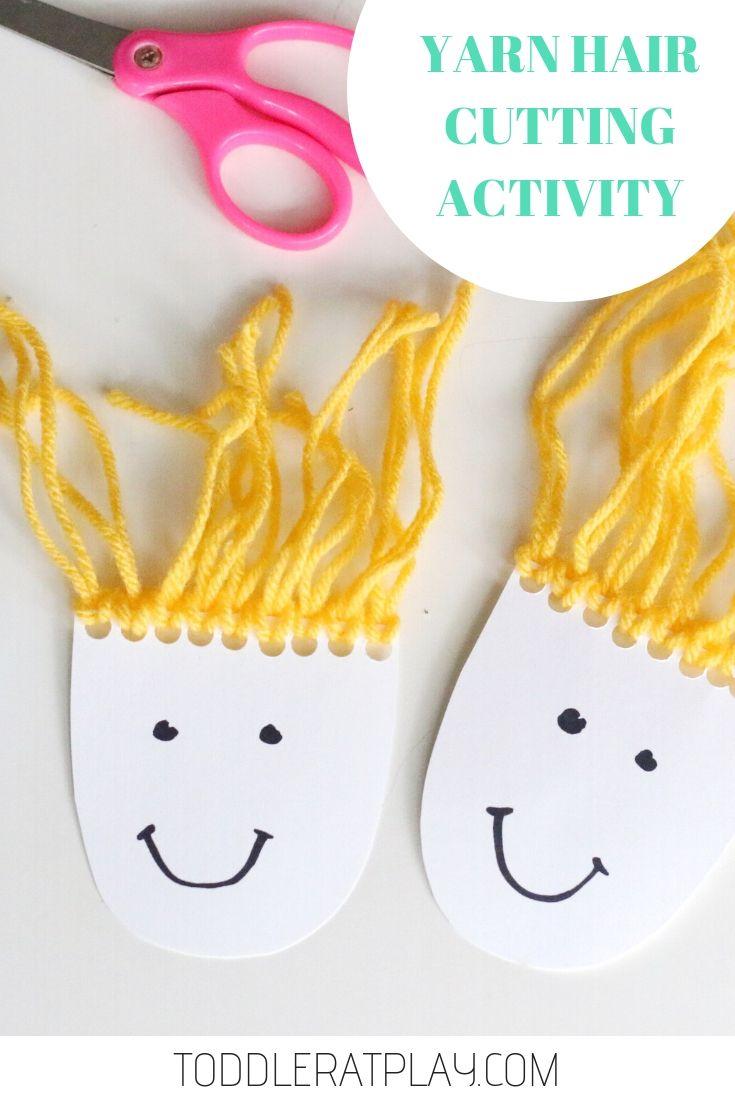 Yarn Hair Cutting Activity