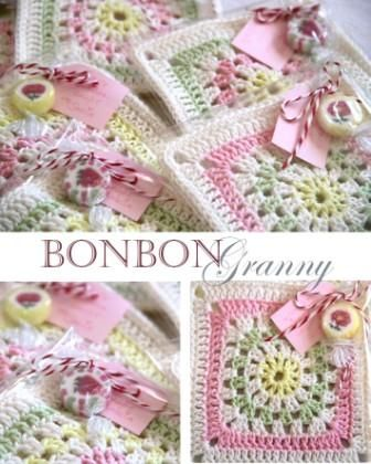 So sweet..from All You Need Is Love blog.Afghans, Crochet Squares, Bonbon Granny, Anleitung Bonbon, Baby Blankets, Granny Squares, Crochet Pattern, Crochet Knits, Good Good