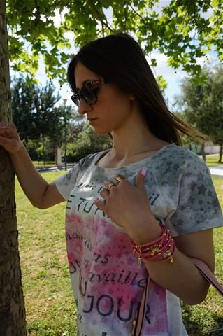 La Bella Donna - Μπλούζα Grey-Pink